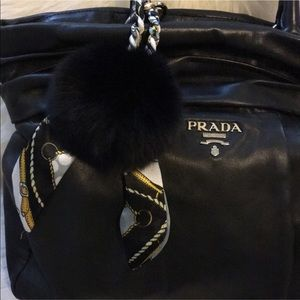 Prada Nappa Frills Leather handbag- Free key chain